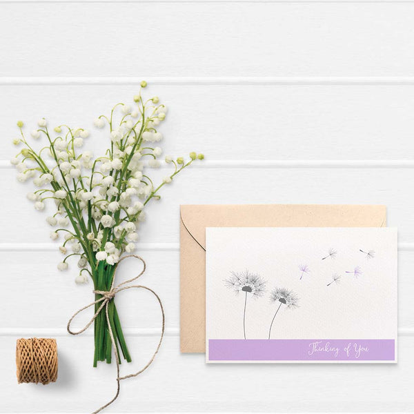 Dandelions in the Wind Greeting Card by mumandmehandmadedesigns- An Australian Online Stationery and Card Shop