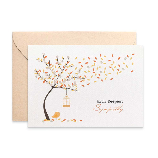Autumn Tree Greeting Card by mumandmehandmadedesigns- An Australian Online Stationery and Card Shop