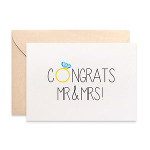 Congrats Mr and Mrs Greeting Card by mumandmehandmadedesigns- An Australian Online Stationery and Card Shop