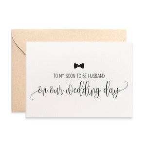 Soon to be Husband Script Greeting Card by mumandmehandmadedesigns- An Australian Online Stationery and Card Shop