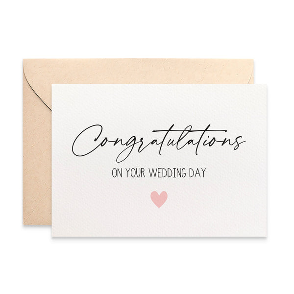Congratulations Wedding Greeting Card by mumandmehandmadedesigns- An Australian Online Stationery and Card Shop