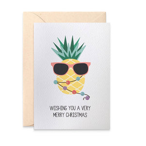 Pineapple with Christmas Lights Greeting Card by mumandmehandmadedesigns- An Australian Online Stationery and Card Shop