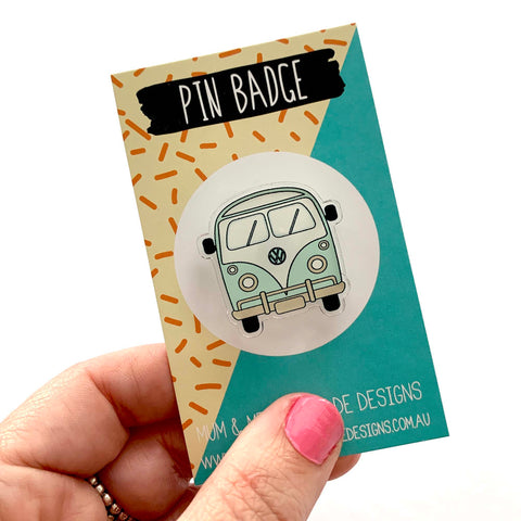 Acrylic Badge: Kombi Van
