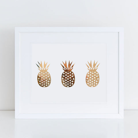 Print - Geometric Pineapples Wall Art Print by Mum and Me Handmade Designs - An Australian Stationery Online Shop