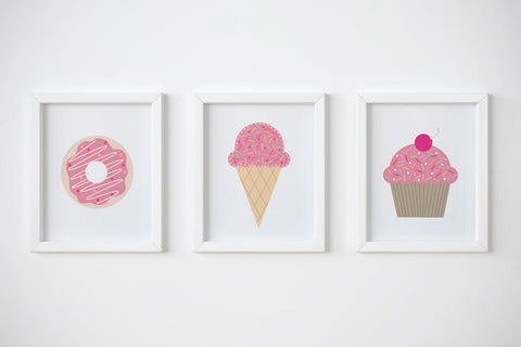 SET OF 3 Girls Prints Wall Art Print by Mum and Me Handmade Designs - An Australian Stationery Online Shop