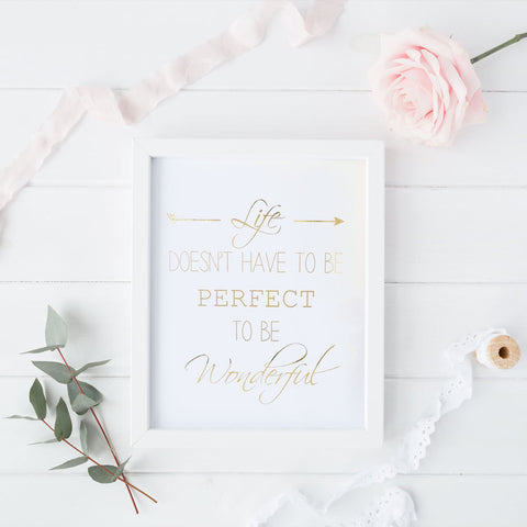 Print - Life Quote Wall Art Print by Mum and Me Handmade Designs - An Australian Stationery Online Shop