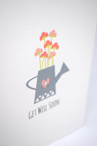 Watering Can Greeting Card by mumandmehandmadedesigns- An Australian Online Stationery and Card Shop