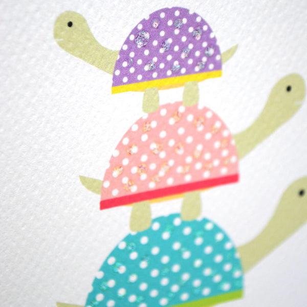 Turtle Stack Greeting Card by mumandmehandmadedesigns- An Australian Online Stationery and Card Shop