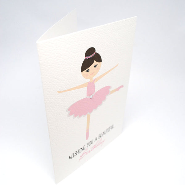 Ballerina Greeting Card by mumandmehandmadedesigns- An Australian Online Stationery and Card Shop