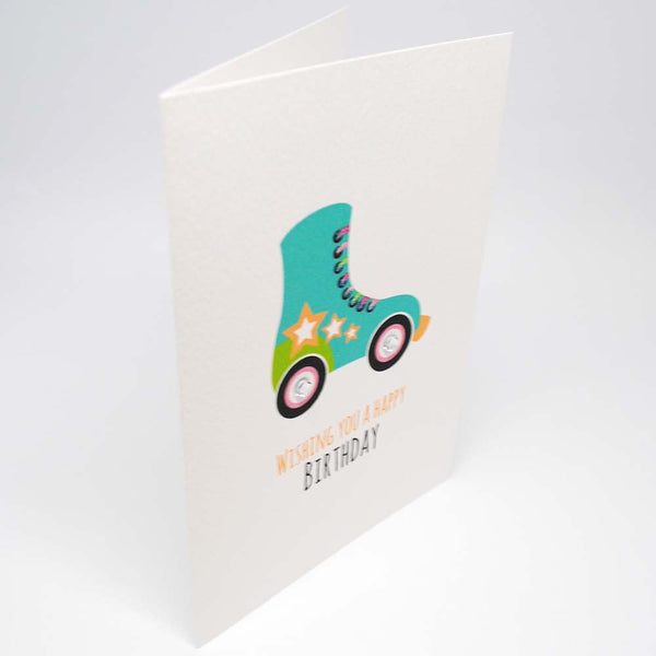 Roller skate Greeting Card by mumandmehandmadedesigns- An Australian Online Stationery and Card Shop