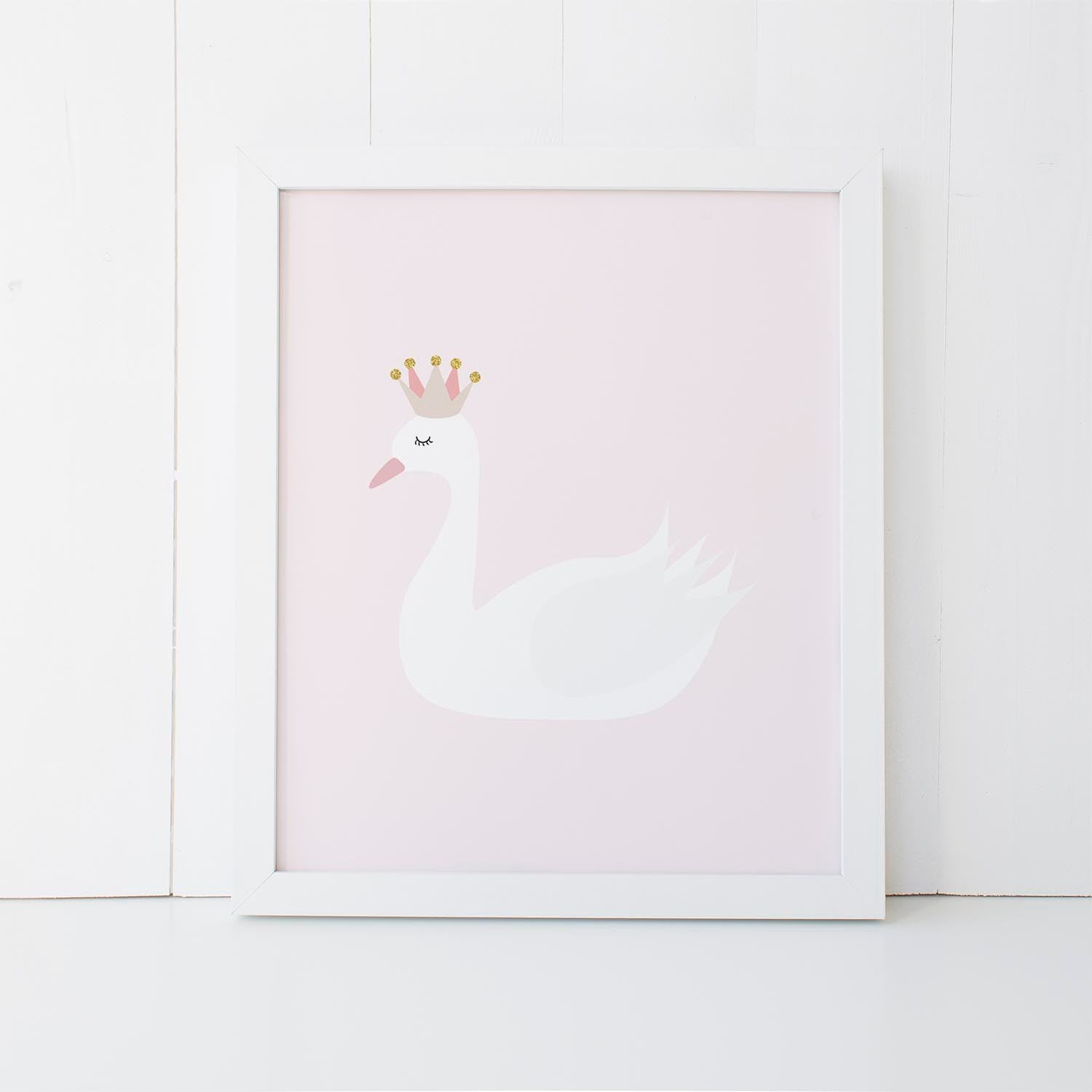 Print - Swan Wall Art Print by mumandmehandmadedesigns- An Australian Online Stationery and Card Shop