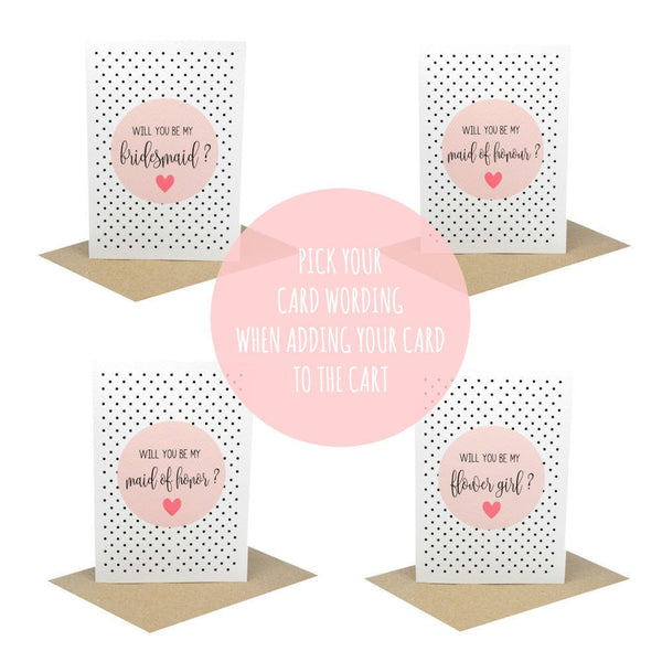 Maid of Honour Blush-Greeting Card-Mum and Me Handmade Designs