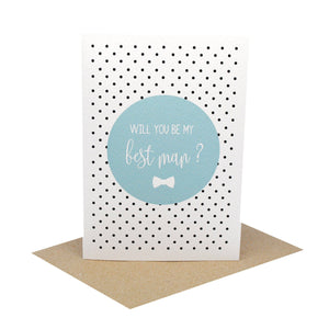 Best Man Blue-Greeting Card-Mum and Me Handmade Designs