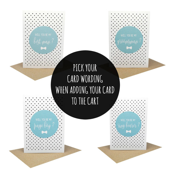 Best Man Blue Greeting Card by mumandmehandmadedesigns- An Australian Online Stationery and Card Shop
