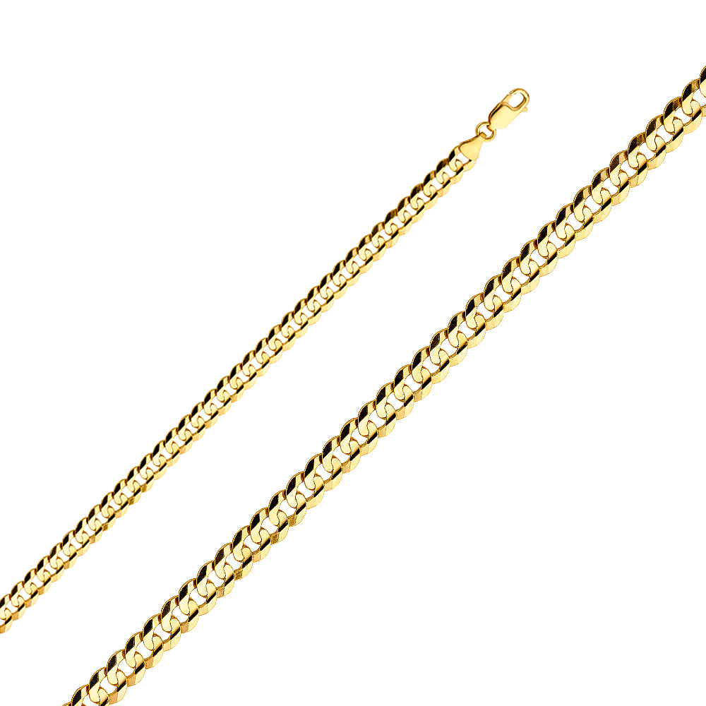 Gold Cubano Concave Chain (6.9mm)