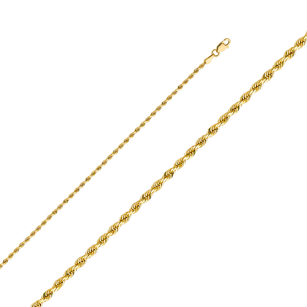 Gold Rope Chain 2mm