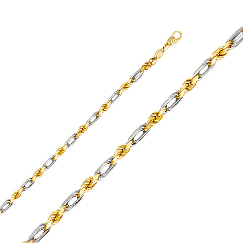 Gold Figarope Chain (5mm)
