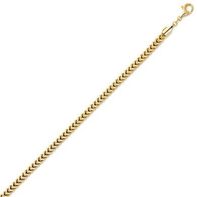 Gold Franco Boxed Chain (4.4mm)