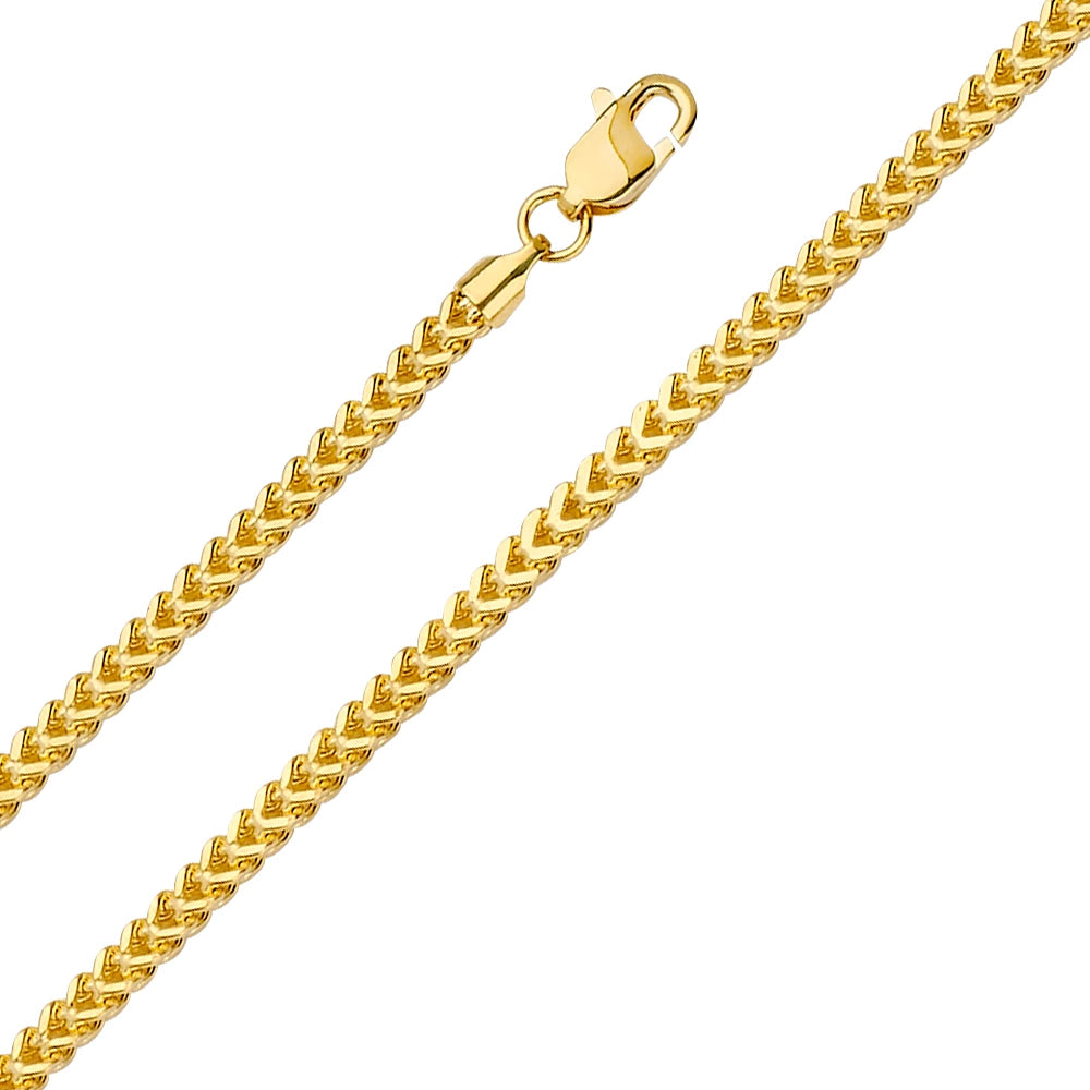 Gold Franco Boxed Chain (2.7mm)