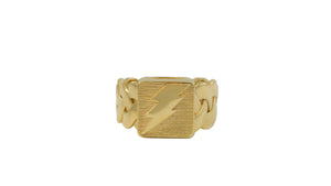 Gold Miami Cuban Hybrid Ring