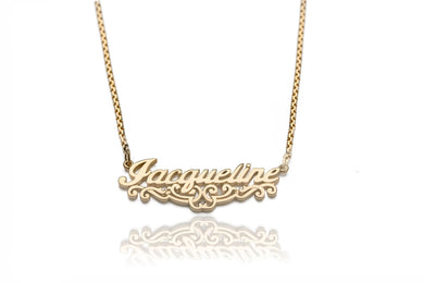 Classic Gold Name Pendant