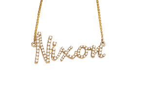 Diamond Name Pendant