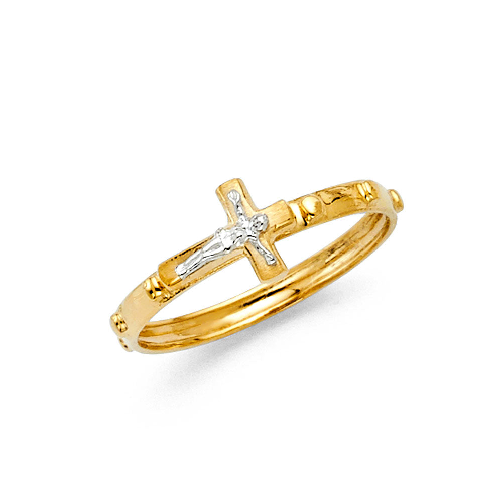 Gold Crucifix Ring