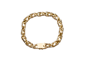 Hybrid Crossed Link Bracelet 7MM