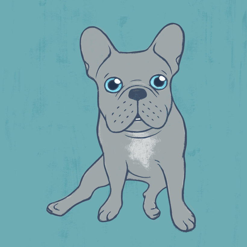 Come Pet The Cute Blue French Bulldog Puppy Digital Art
