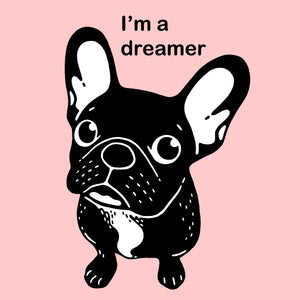 Cute brindle Frenchie is a dreamer