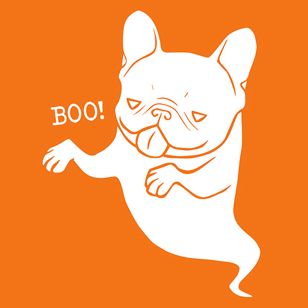 Frenchie Boo Boo Naughty Halloween Ghost