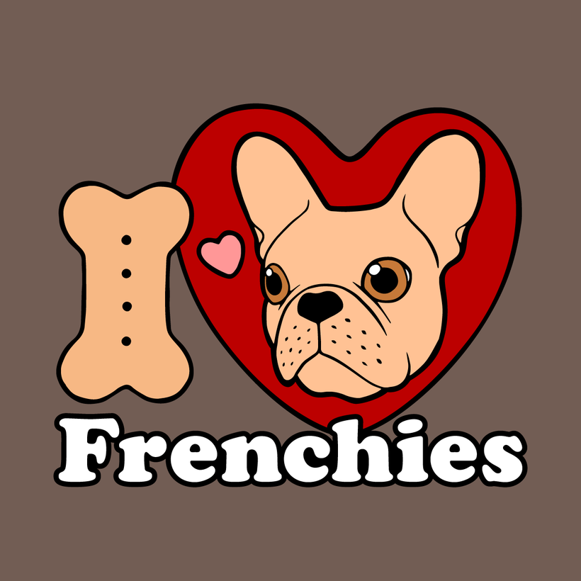I Love Frenchies design for all Frenchie Lovers