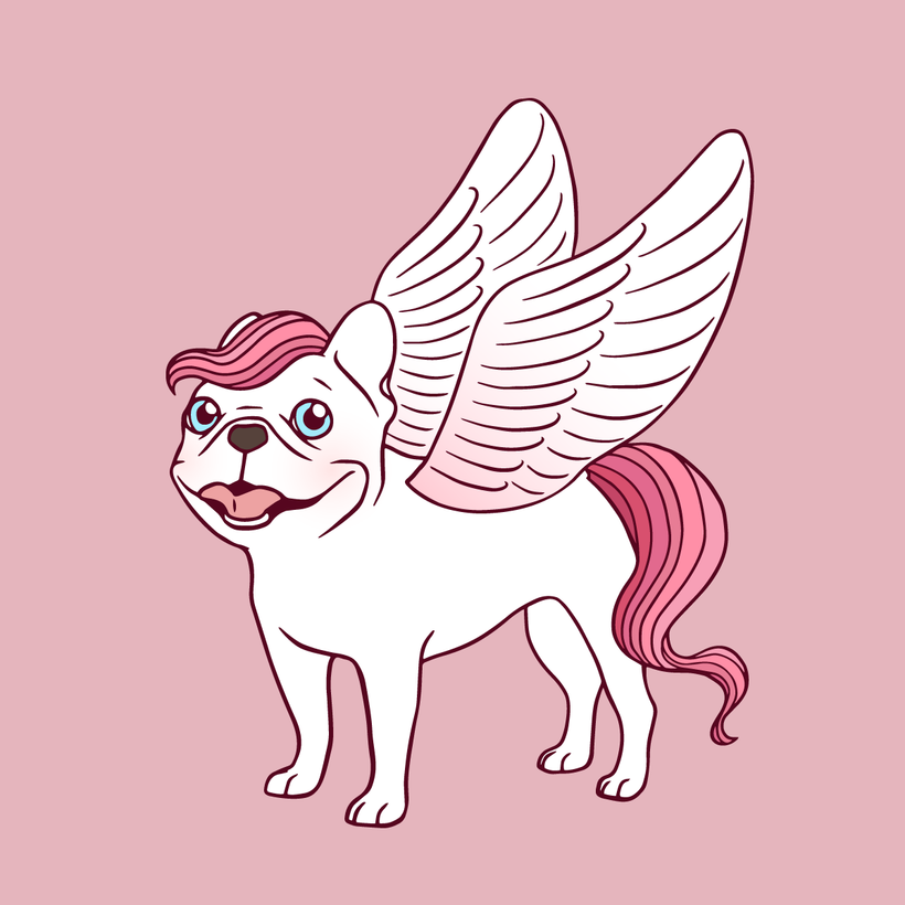 Frenchie Pegasus spreads its wings into the mythical world