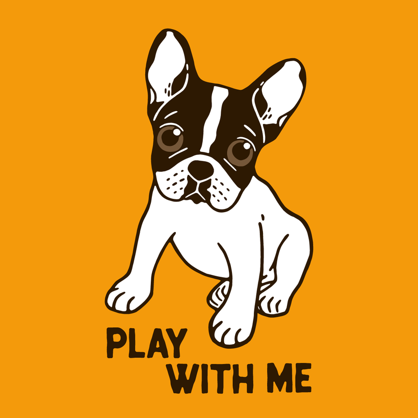 Play With Me Frenchie Design