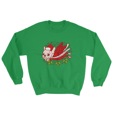Christmas with a cute Frenchie Sweatshirt