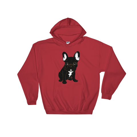 Brindle French Bulldog Puppy Hooded Sweatshirt by Emotional Frenchies