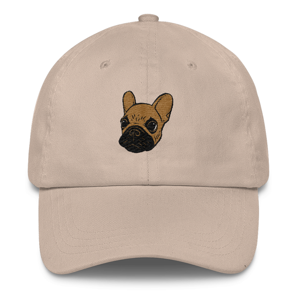 Black mask fawn Frenchie Puppy Classic Dad Cap by Emotional Frenchies