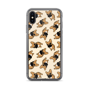 Black mask fawn Frenchie Puppy iPhone Case