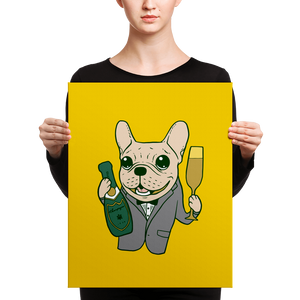 Celebrate with the cute Frenchie Canvas by Emotional Frenchies