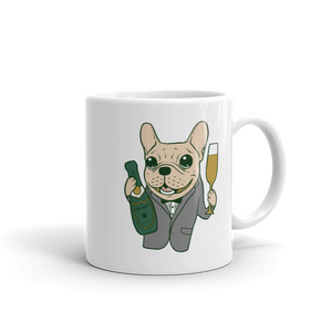 Celebrate with the cute Frenchie Mug made in the USA by Emotional Frenchies