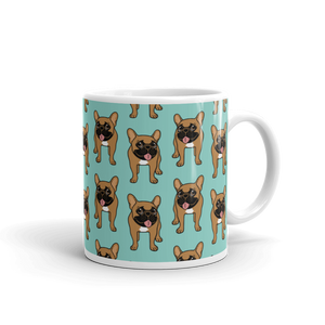 Black Mask Fawn French Bulldog is ready to play Mug made in the USA by Emotional Frenchies