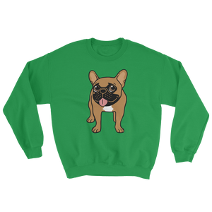 Black Mask Fawn French Bulldog is ready to play Sweatshirt by Emotional Frenchies