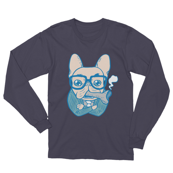 Bossy French Bulldog Daddy Unisex Long Sleeve T-Shirt by Emotional Frenchies