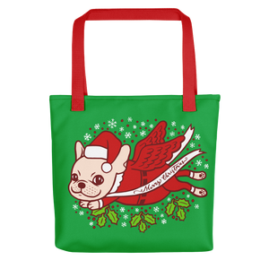 Christmas with a cute Frenchie Tote bag
