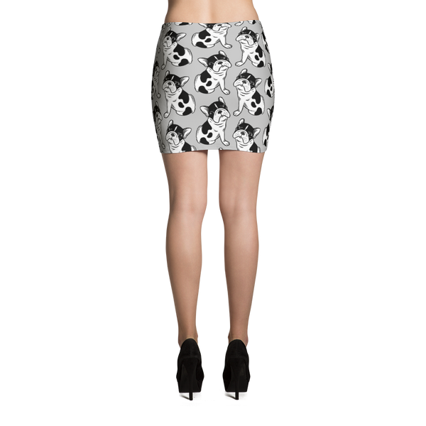 Brindle Pied Frenchie Puppy Mini Skirt by Emotional Frenchies