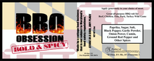 BBQ Obsession Bold & Spicy Seasoning (3.5 oz bottle)