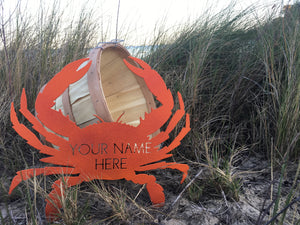 "Custom Made, Cooked and Seasoned Crab Cut-outs ""Your Name Here"""