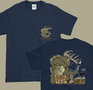 Bow Hunting Bud (Front and Back) - Short sleeve t-shirt