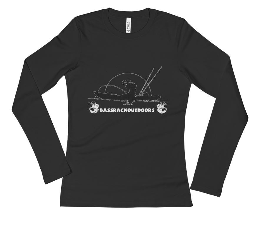 Kayak Fishing - Ladies' Long Sleeve T-Shirt (Multiple Colors Available)