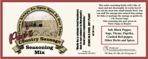 Pop's Country Sausage Seasoning Mix (3.5 oz bottle)